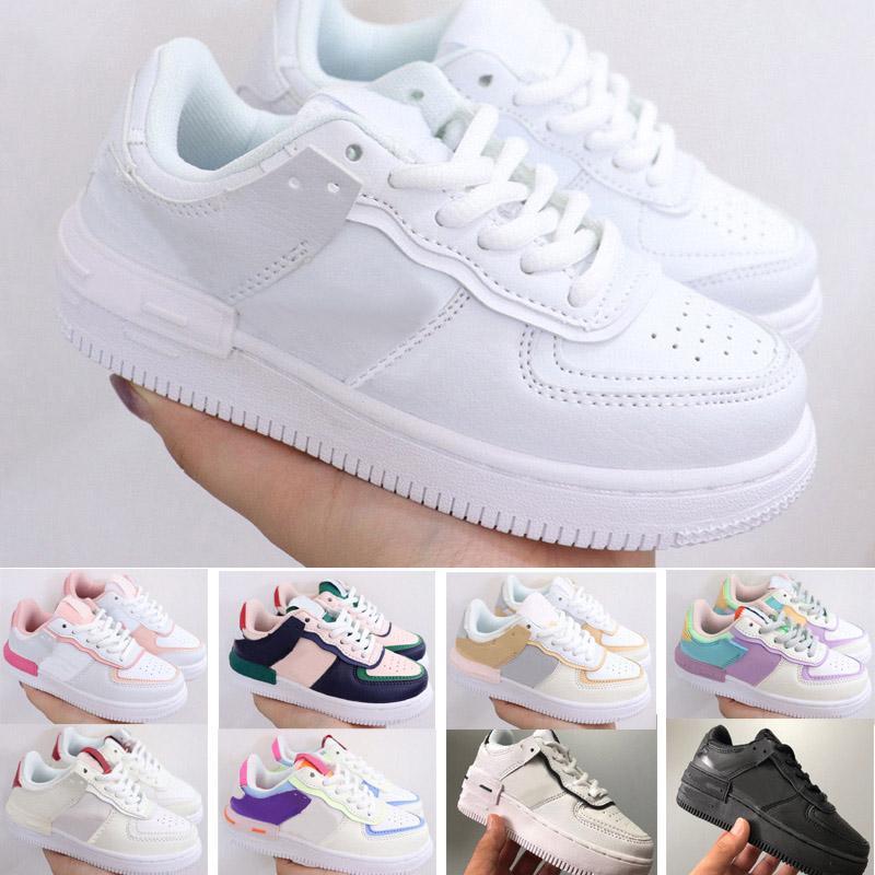 2021 Coupez les chaussures classiques basses enfants garçon garçon fille enfant adhésif air skateboarding chaussures de sport skate sneaker taille eur26-35