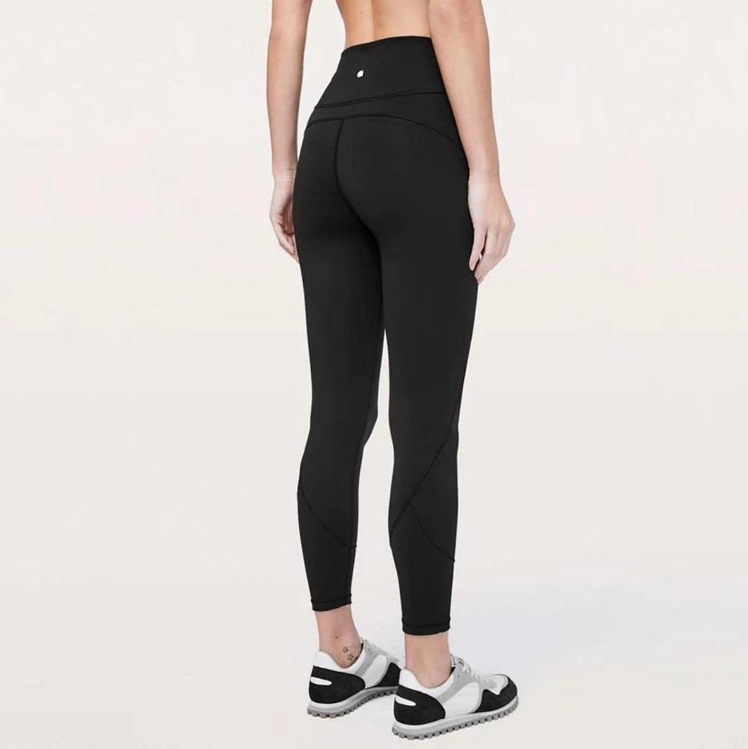 Gimnasio Wear L-U Pantalón Diseñador Align Yoga Leggings Mujeres Yoga Material Spandex Material Leggings Elástico Fitness Lady General Mallas Completas Entrenamiento