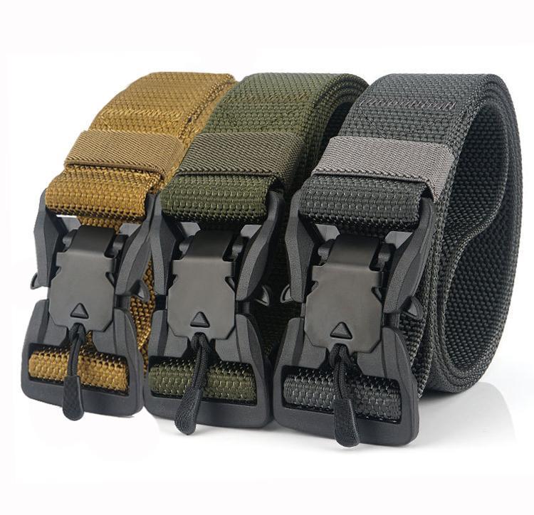 الخصر دعم الرجال حزام الجيش المغناطيسي مشبك قابل للتعديل أحزمة النايلون التكتيكية للسراويل عالية الجودة حزام الصيد في الهواء الطلق