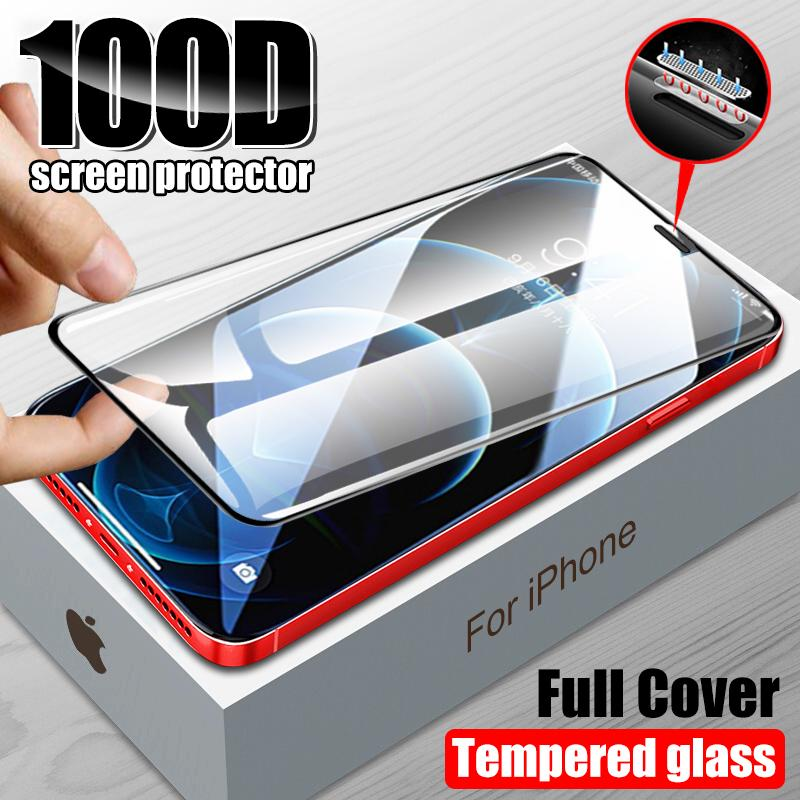 Tempered Glass For iPhone 12 Pro Max mini 11 Screen Protector XR XS Max X 8 7 Plus SE 2020 Transparent Protective Film
