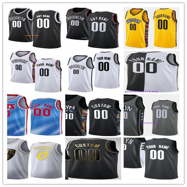 Personalizado Kyrie Juventude 11 Irving Kevin 7 Durant James 13 Harden Joe 12 Harris Drazen 3 Petrovic 8 Dinwiddie 0 Nwaba Man Kids Basketball Jerseys