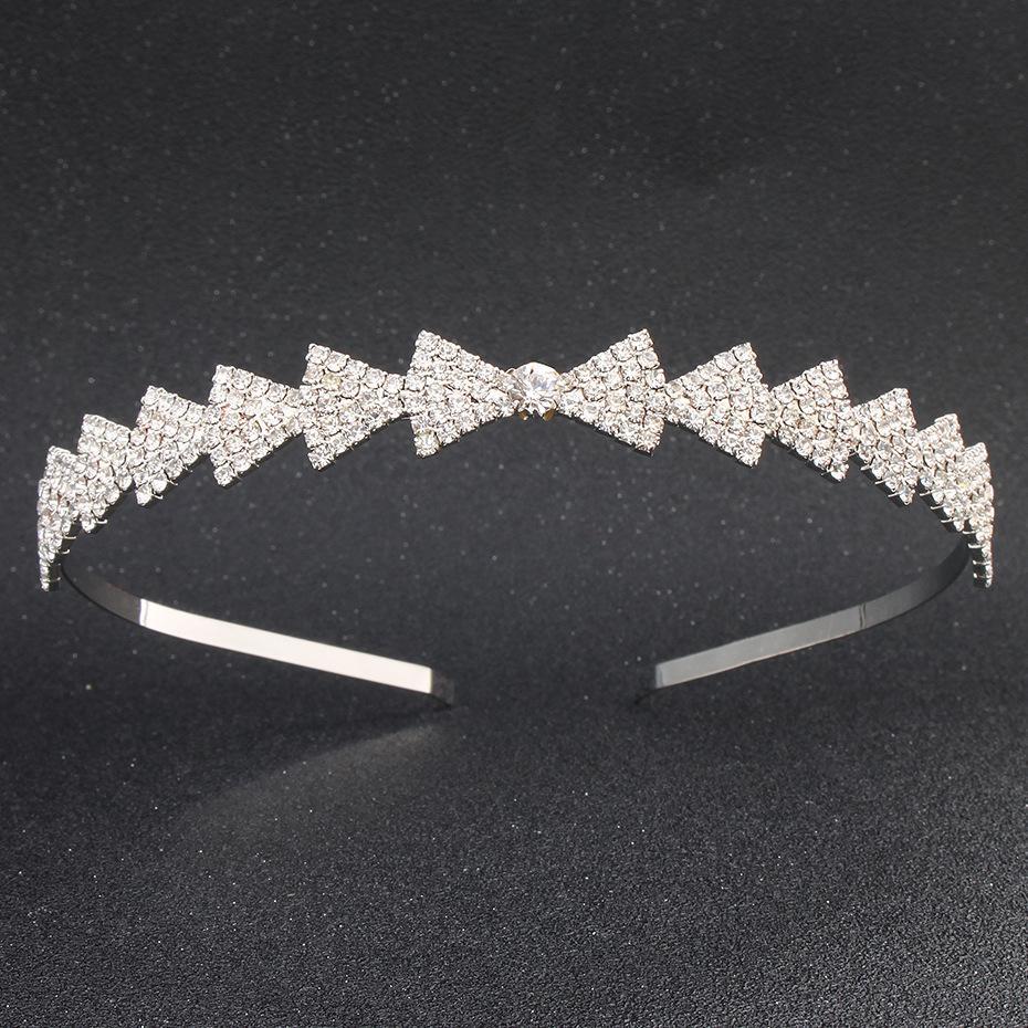 Полный австрийский хрустальный камень Tiaras и короны моды мода волос волос ювелирные изделия аксессуары ручной работы свадебные волосы орнаменты JCI020