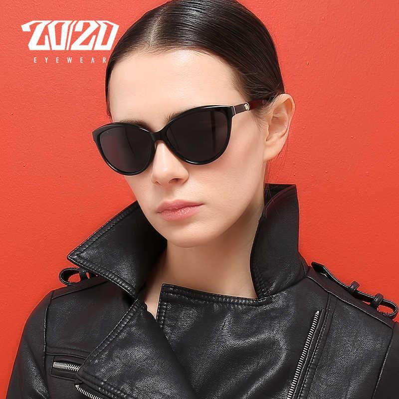 20/20 Design di marca Cat Eye Donne Donna Polarizzata Occhiali da sole femminili Vintage Style Shades Glass Feminino oculos PL338