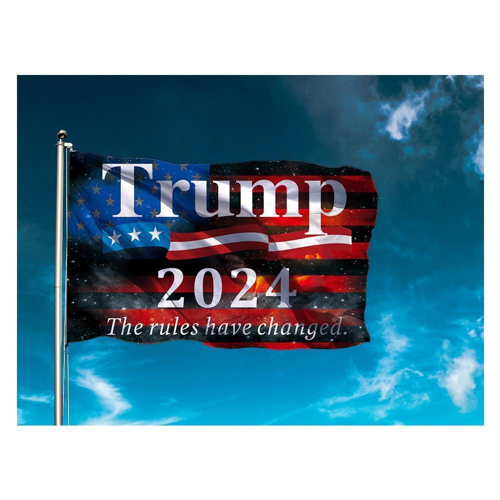الأسهم الأمريكية 90 * 150CM ترامب العلم 2024 العلم الانتخابات راية دونالد ترامب الحفاظ على أمريكا عظيم مرة أخرى 5 أنماط البوليستر العلم