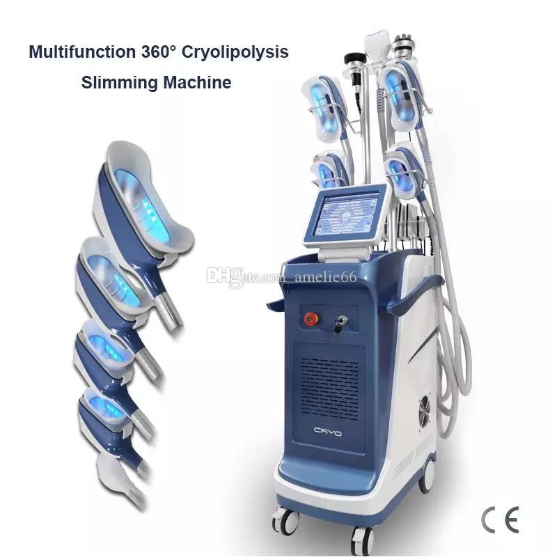 Nova máquina de congelamento de gordura multifuncional 40K cavitação de vácuo perda de peso corpo esculpir Cryolipolysis Chin Remoção Corporal máquina de emagrecimento