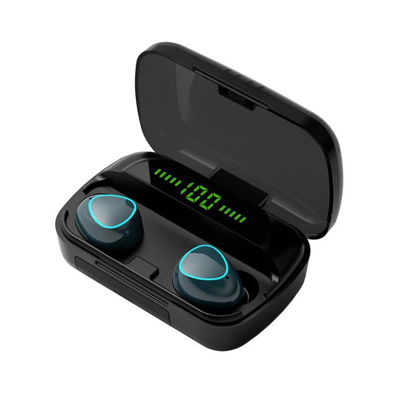 TWS سماعات لاسلكية M10 سماعات بلوتوث للماء مع اساس طاقة 3D Touch Headsets للهواتف الذكية
