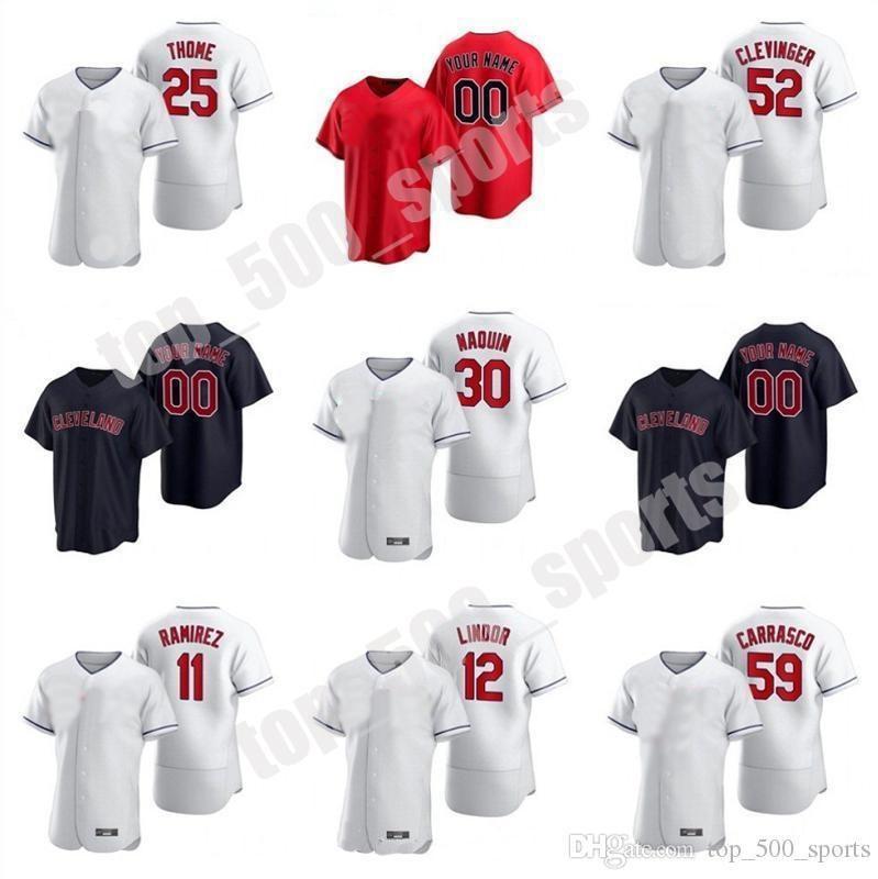 2021 Leonys Martin Jersey Mike Freeman Francisco Lindor Jose Ramirez Edwin Encarnacion Red Baseball Jerseys 사용자 정의 스티치
