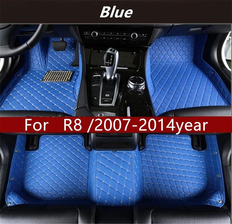For Audi R8 /2007-2014 year Car Floor Mats Customized Car Waterproof Leather Wear-resistant Environmentally Friendly Non-toxic Mat