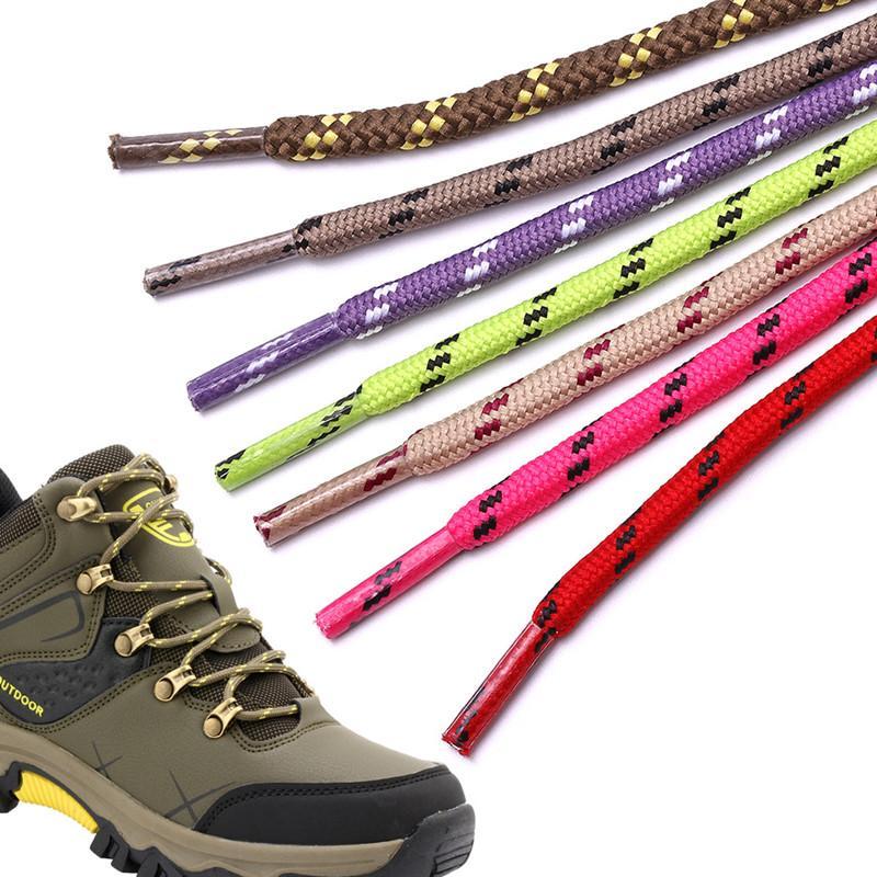 7 ألوان جولة رباط الحذاء للجنسين الأزياء عارضة الأحذية الأربطة عالية الجودة البوليستر الرياضية المشي أحذية الحذاء