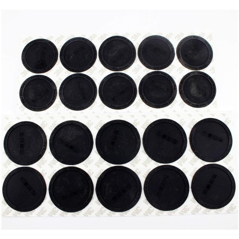 Kaymaz Kauçuk Alt Tumbler Bardak Savaşçıları için 20 oz / 600 ml Düz Süblimasyon Tumbler PVC Silikon Fincan Mat 143 V2