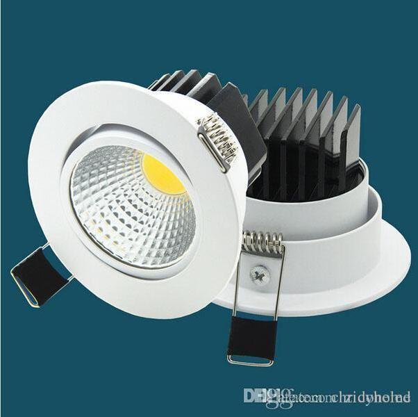 Kısılabilir LED Downlights COB Gömme Işık Fikstür LED İnce Yüzey Dağı Döküm Alüminyum Spot 5w 7 W 9 W 12 W