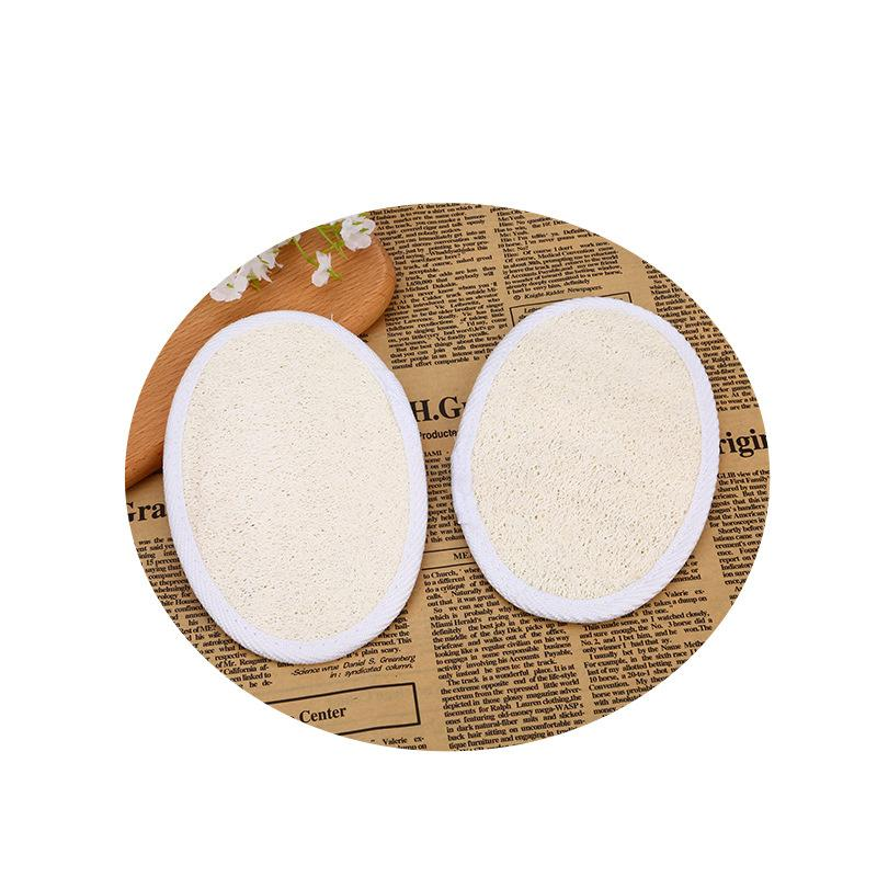 LOOFAH الطبيعي لإزالة الجلد الميت منشفة منشفة منشفة القرع حمام الكرة اللوف غسيل المنزل أو حمام أسود الإسفنج GWA3374