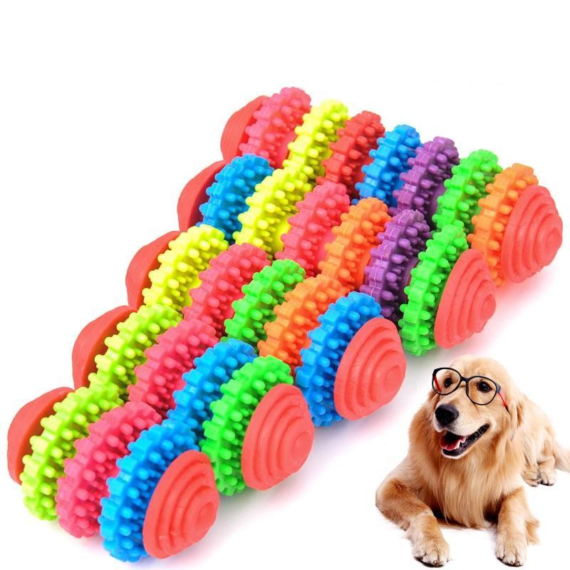 Gummi Hund Kauen Spielzeug für kleine Hunde Spielen Welpen Clean Zähne Gums Training Werkzeug Dental Health Bunte Haustier