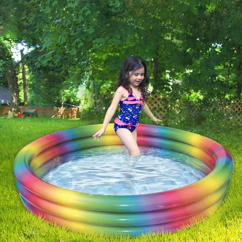 Poolzubehör Aufblasbarer Schwimmblasen Verdickte Kiddie Lounge Sommer Runde Abnehmbare Pools Outdoor Rawn Gerahmte Schwimmen