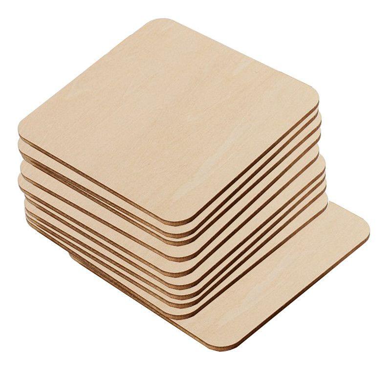 Rettangolo quadrato non ritagliata legno ritaglio in legno cerchi vuoti a fette di legno pezzi per pittura fai da te progetto art artigianato ci siamo byzbk xmh_home 545 r2