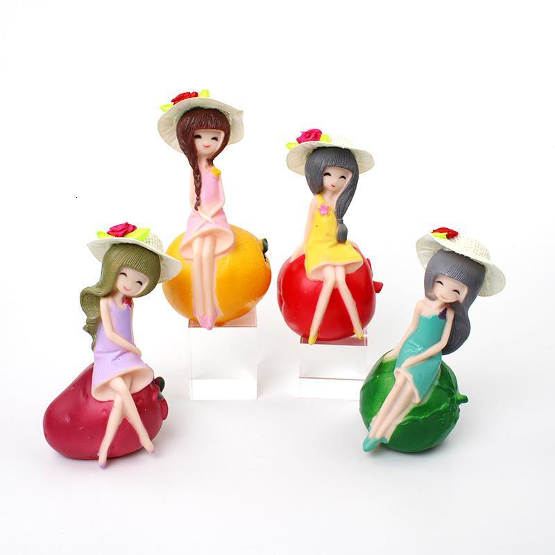 Эмаль девушка 4 ролевые фрукты принцесса творческий торт украшения выпечки