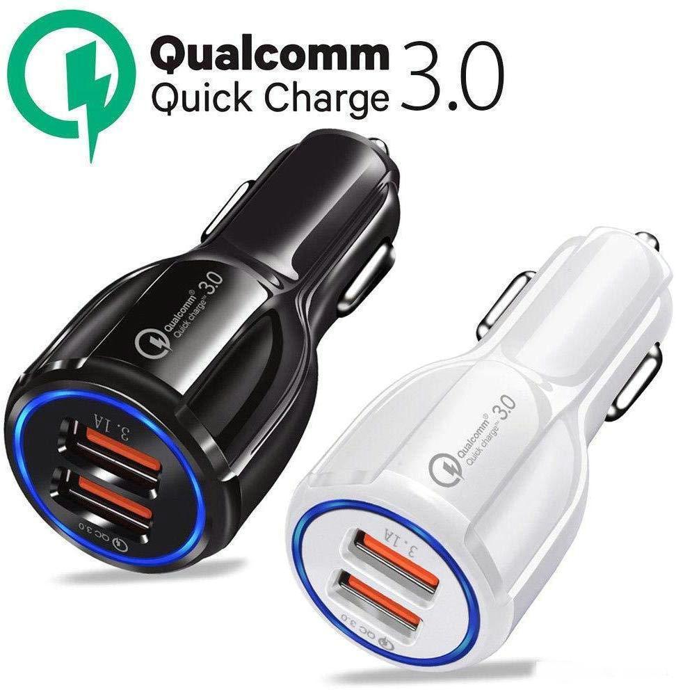 أعلى جودة لسامسونج غالاكسي S10 S9 S8 ملاحظة 9 QC3.0 Fast Short 3.1a Qualcomm Charge Charge Charger شاحن الهاتف المزدوج USB مع حقيبة OPP