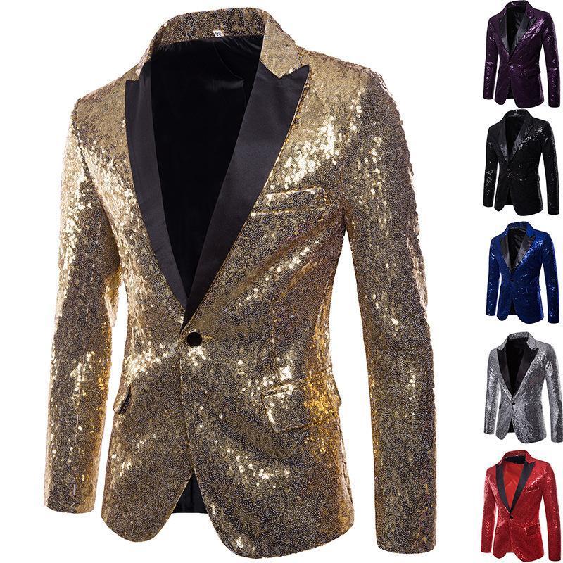 Hombre blazer banquete boda blazer fiesta barro club nocturno hombre abrigos brillante traje paisley moda