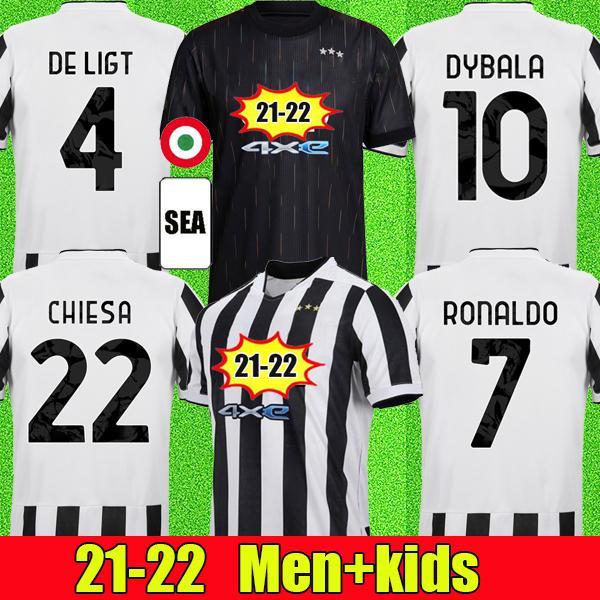 Camisa de futebol 21 22 da juventus 2021 2022 juventus camisa de futebol RONALDO DYBALA DE LIGT MORATA KULUSEVSKI CHIESA McKENNIE BERNARDESCHI soccer jersey
