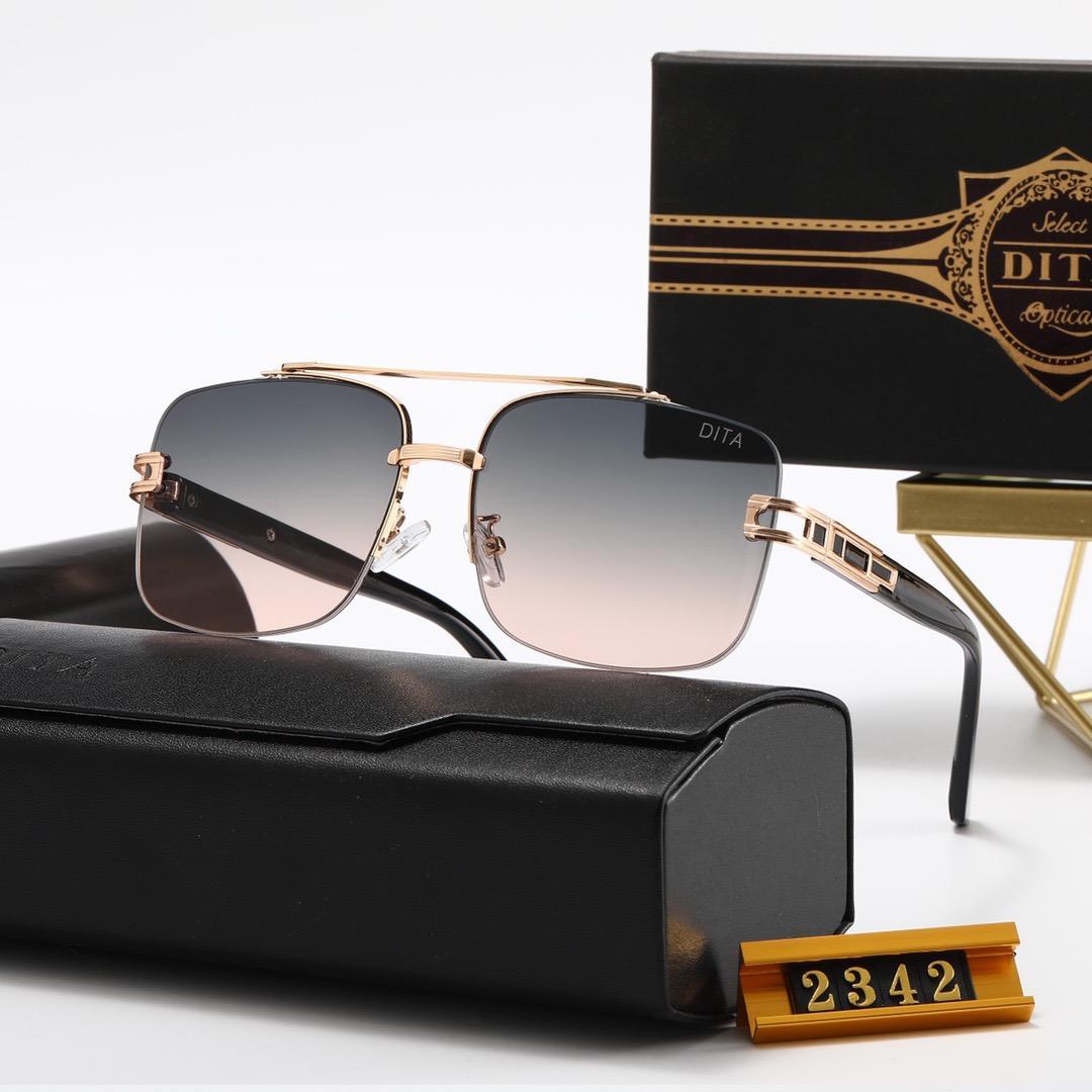 2021 جودة عالية مصمم أعلى dita الأزياء النظارات الشمسية 2342 2273 2278 رجل امرأة عارضة نظارات العلامة التجارية الشمس العدسات شخصية النظارات