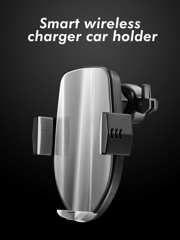 Supporti per telefoni cellulari Caricatore auto senza fili Caricabatteria da auto a ricarica rapida Carica per veicolo Accessori per supporto per veicoli per Smart