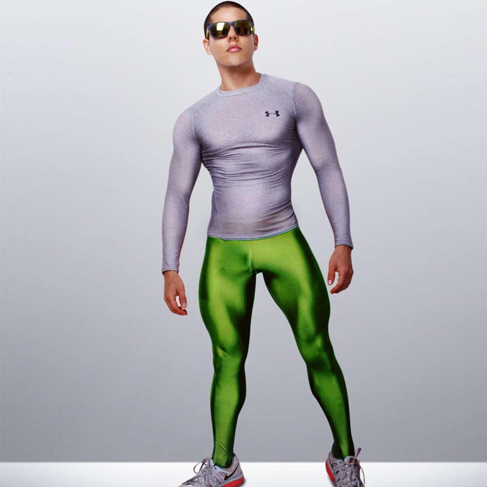 Девять точечных глянцев спортивные йоги баскетбольные мужские трусы обучающиеся узкой высоты упругие брюки