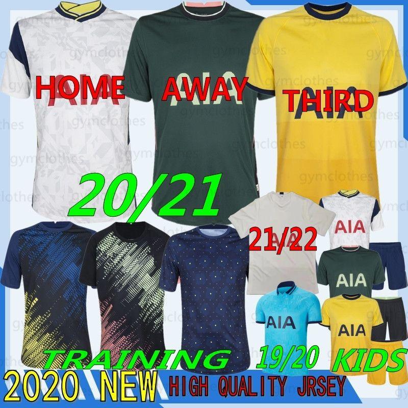 Tailandês 21/22 Qualidade Tottenham Kane Futebol Jersey Lamela Bergwijn Ndombele Dele Dele Son 20/21 Jersey Football Camisetas Homens Kid Kids Set Uniformes