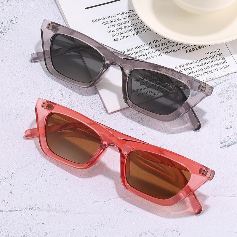 Солнцезащитные очки Ретро Маленький глаз Мода Личность Улица PO Солнцезащитные Очки Сквер Солнцезащитные Очки Очки