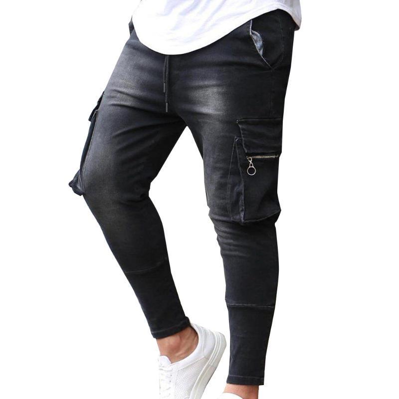 Mode Jeans Jeans Denim Hosen mit Pocket Bleistift Hosen Männer Kleidung Jogger Denim Casual Pocket Jeans