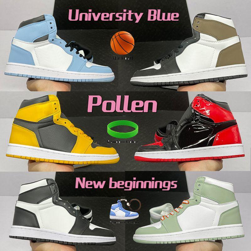 2020 الجديدة 1 1S كرة السلة الأحذية الذئب الرمادي الشراع أحذية رياضية الصالة الرياضية أحمر أسود أبيض اتحاد لوس انجليس الأسود تو مع صندوق المفاتيح