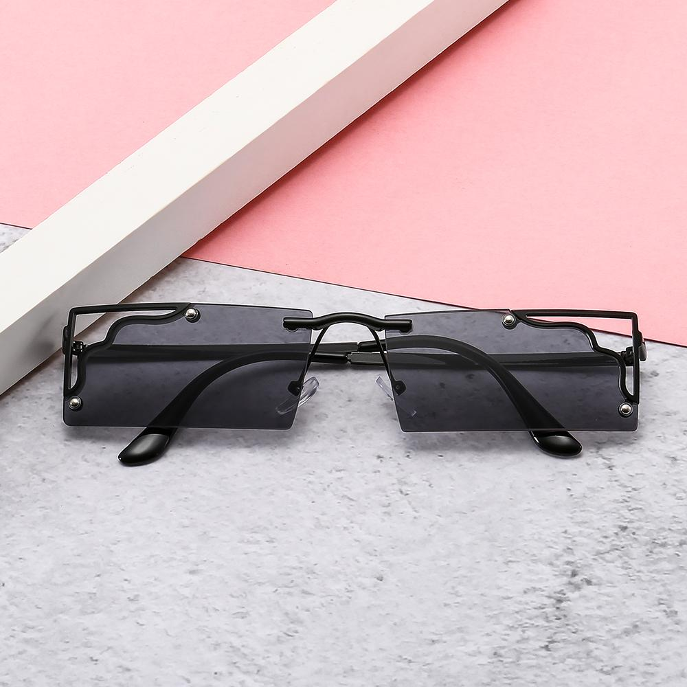Yeni Metal Hollow Meydanı Küçük Çerçeve Erkek Ve Kadın Güneş Gözlüğü, Renkli Kişilik INS Güneş Gözlüğü FJ2909