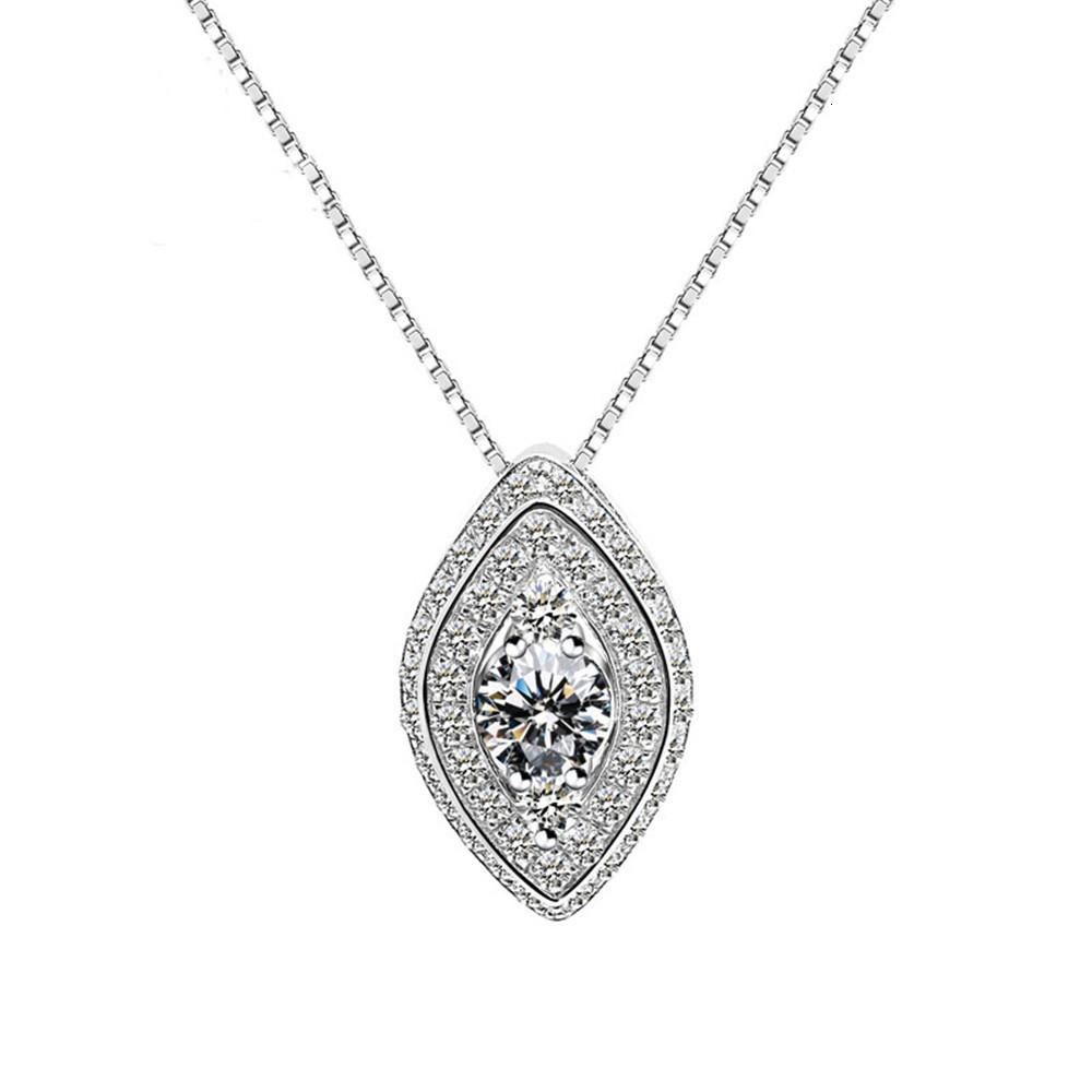 HBP Fashion Luxury Diamond con colgante de circón AAA, collar de plata, cadena de clavícula, estilo de mujer