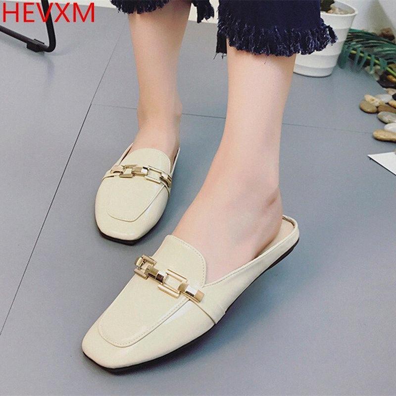 Hevxm 2017 koreanische version neue damen mode baotou flache bodenkette flache sandalen weibliche beiläufige pass professionelle wilde schuhe womens l l4al #