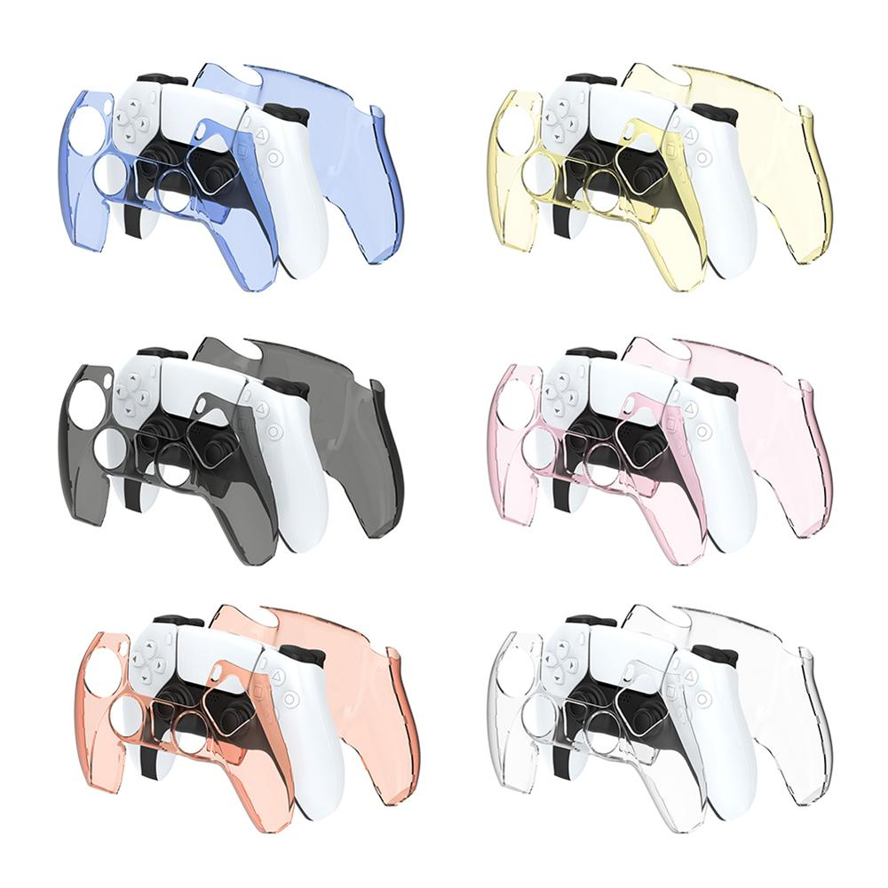 PC Gamepad Case Transparent Cover Housing for Sony PS5 Game Controller Joystick Protective Shell 5 Colors by DHL Freeshipping
