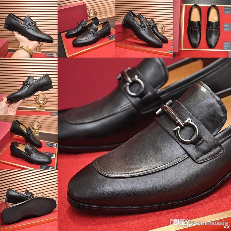 MM 21SS Mens de luxe robe chaussures de luxe en cuir verni brun brun noir bracelet bandoulière affaires business boucle brillant chaussures formelles pour hommes 33