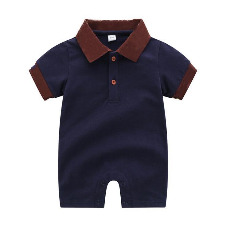 الطفل السروال القصير مصمم الاطفال ملابس القطن قطعة واحدة تصميم الكلاسيكية الفتيان والفتيات ملابس الرضع رومبير 3-24 م