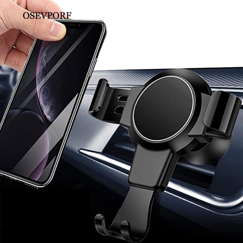Porte-téléphone portable supports porte-voiture pour 12 11 Pro Max Max Gravity Air Mount Stand Stand Pas de support de support magnétique S20 S10