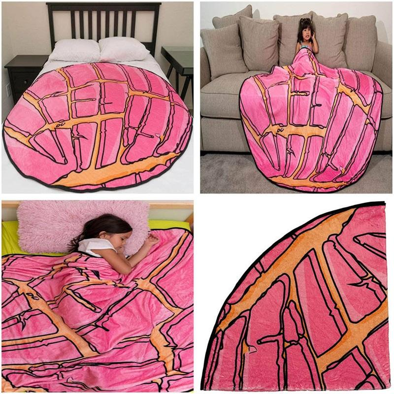 90cm 150cm Mexican Burrito Blanket Tortilla Household Blankets Adult Child Comfortable Food Throw Blankets Bedspreads SEASHIPPIN CCD4977