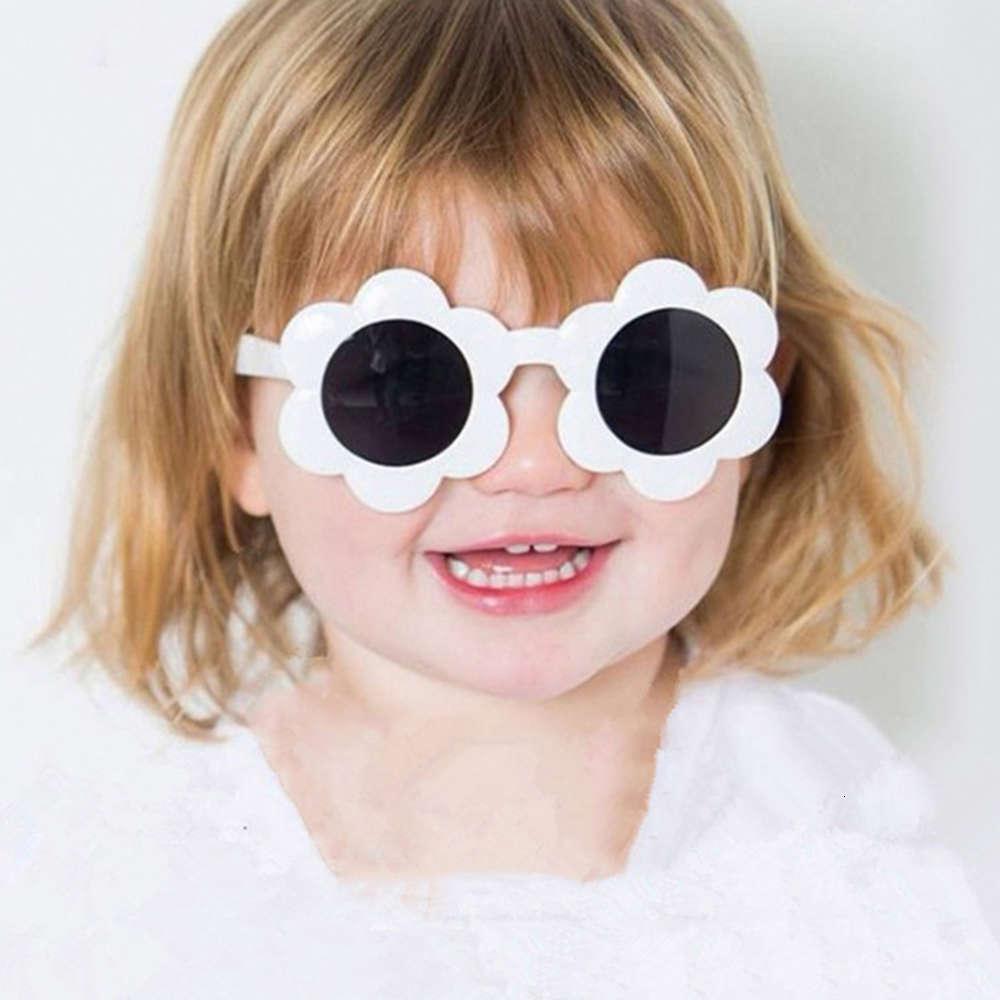 Geléia flor crianças óculos de sol 2021 novo girassol deslumbrante transparente moda vidro adorável sunglassjcgz