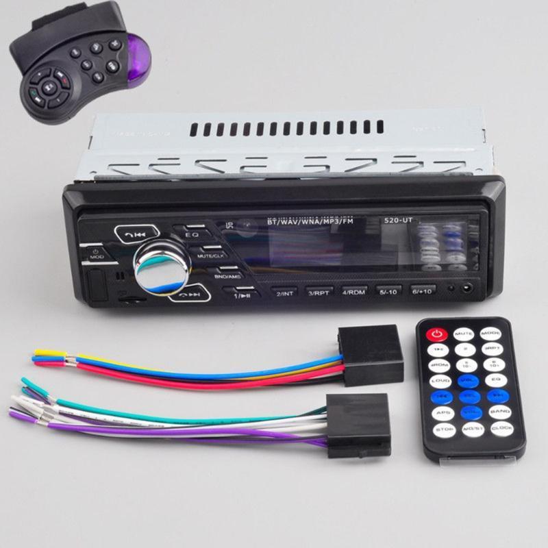 Lettori MP4 Bluetooth Player MP3 Auto Radio Audio Stereo USB Head Head Unit in Dash Off Time Display Funzione con remoto CONTO