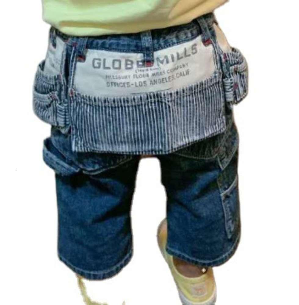 Primavera verão maré de maré gaoding desgaste infantil 2021 d @ D multi bolso calças macias macias para crianças