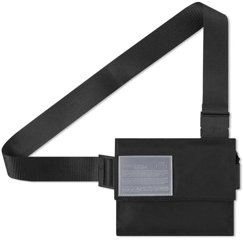 Card Holders 2021 High Street Single Shoulder Messenger Bag Nylon Cloth Leisure Trend Versatile Men's And Women's Letter Chest Black