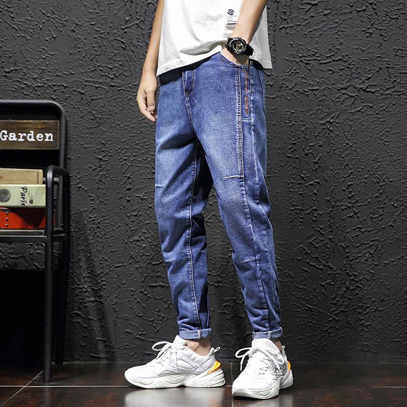 Primavera Trend Young Men's 2021 New Casual Jeans Coreano Slim Piccoli Piedi Bello Trendy Pai Capris