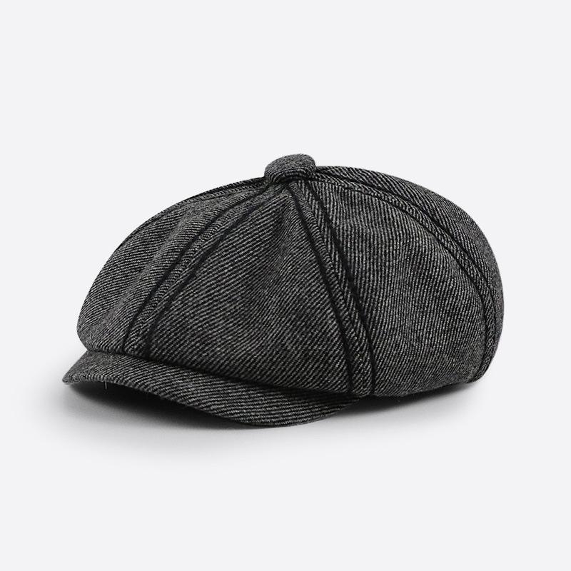 Duck tongue hat retro octagonal hat women's new English literary newspaper children's men's 2021 autumn/winter beret.