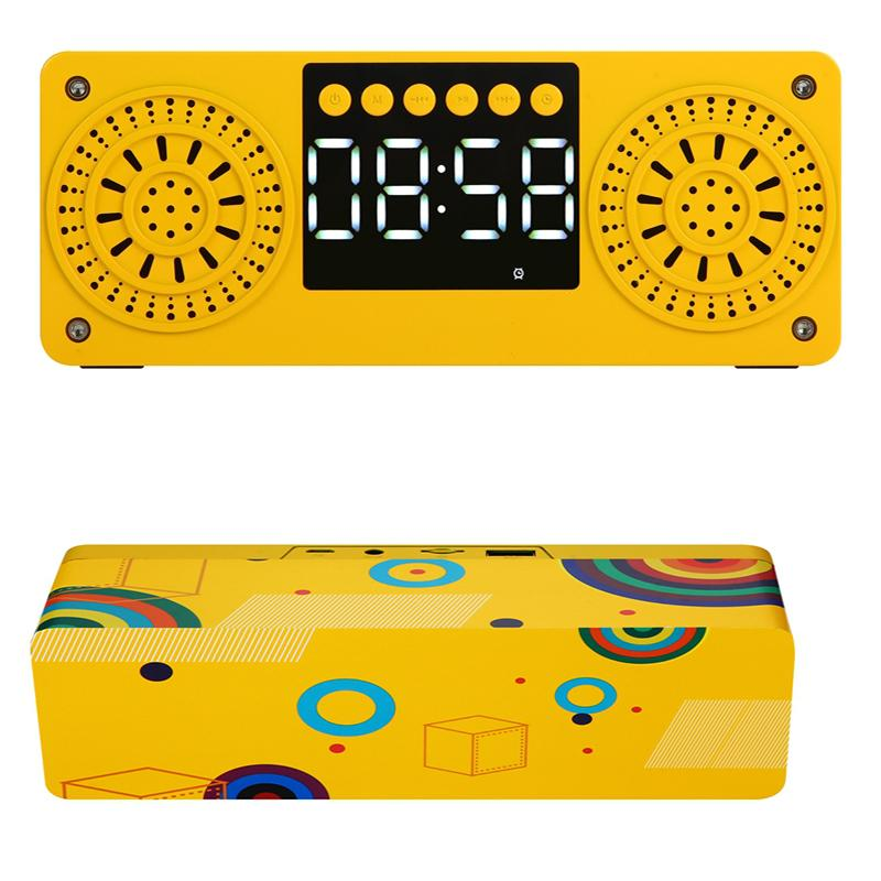 2020 Hot Popilar Stereo Subwoofer Bluetooth Speaker FM Radio Portable Speakers Mp3 Play Super Bass Loudspeaker Computer Column Yellow