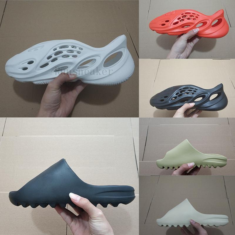 2021 Mit Box Fashion Slides Wüste Sand Erde Braun Harz Herren Damen Pantoffel pantoufle Luxe männlich weiblich Designer Sandale Hausschuhe Slipper