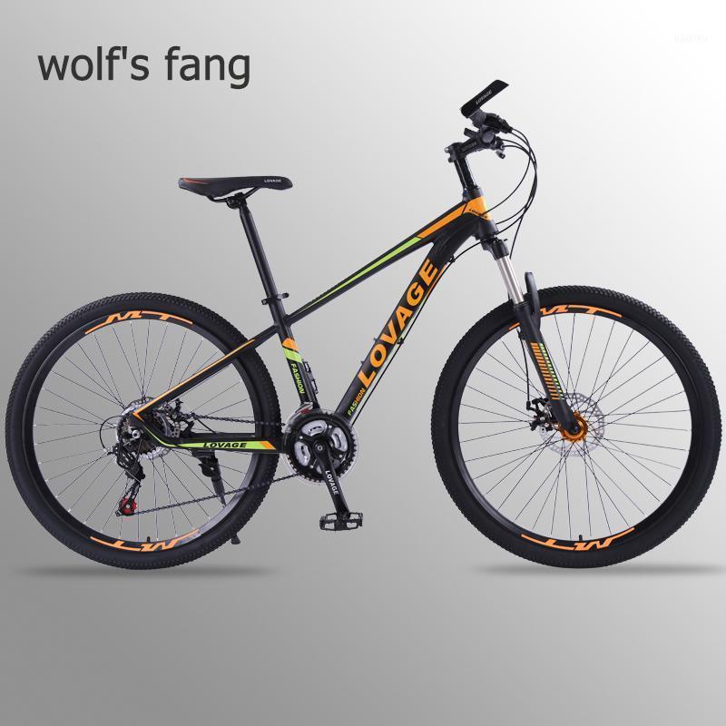 Bikes Wolf's Fang велосипед велосипед 27,5 жира 21 скорость велосипеды дороги MTB двойных дисковых тормозов MAN1