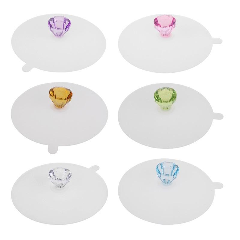 سيليكون كأس أغطية الماس reusable القدح غطاء غطاء مكافحة الغبار محكم ختم كوب غطاء، مقاومة للحرارة سيليكون أغطية كأس الشراب الساخنة 771 K2