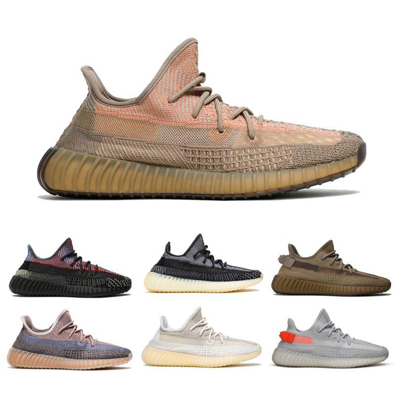 2021 Gota de envío Arena Taupe Zyon Cinder Hombres Mujeres Running Zapatos Cola Luz Tierra Ash Pearl Ash Azul Lino Yecheil Sneakers de calidad superior