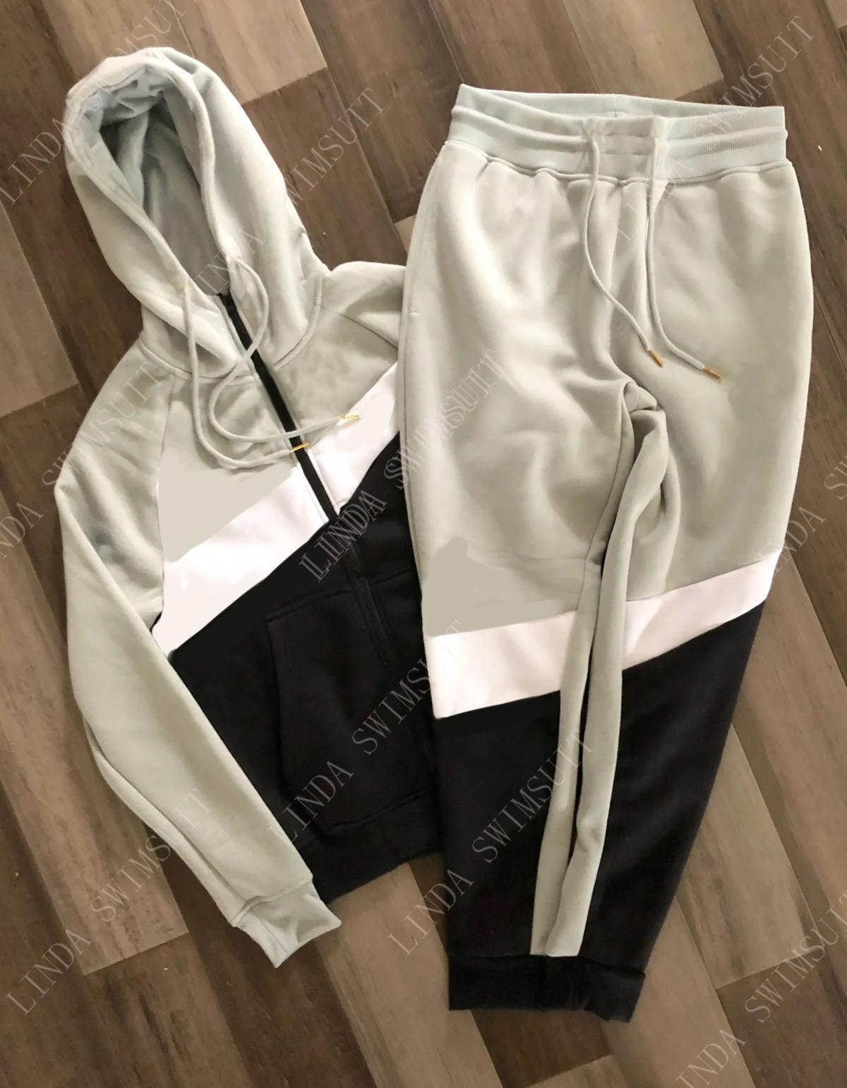 Sweats à capuche Sweats à capuche Sweatsuits Logo Imprimer Mens Hommes Casual Street Street Streetwear Pull Sweat-shirt Longues manches manches manches longues et pantalons Hoodi Polyeste